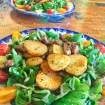 salade aiguillettes canard 1 - Pommes de terre Sarladaises