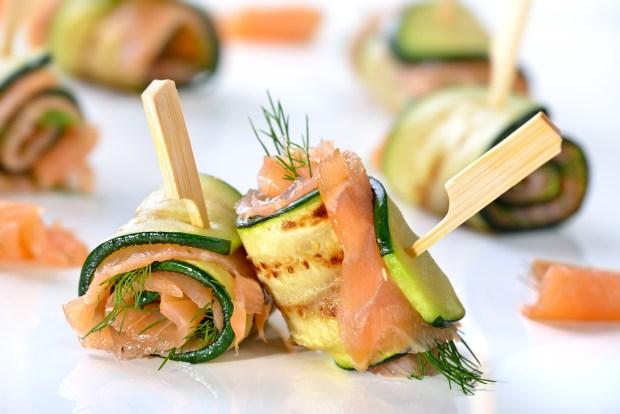 roules courgette saumon 2 - Dossier : Sélection de recettes pour Noël