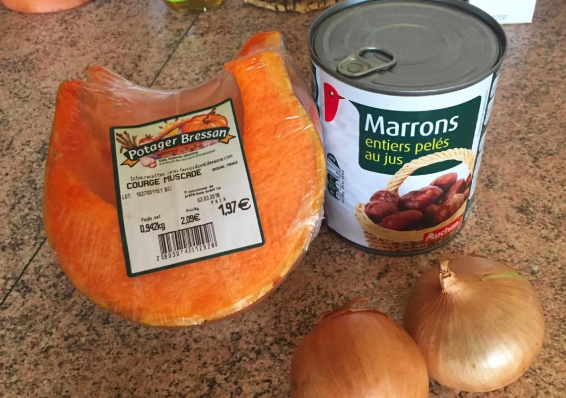 IMG 2981 - Soupe de potiron, marrons, oignons (Recette Companion)