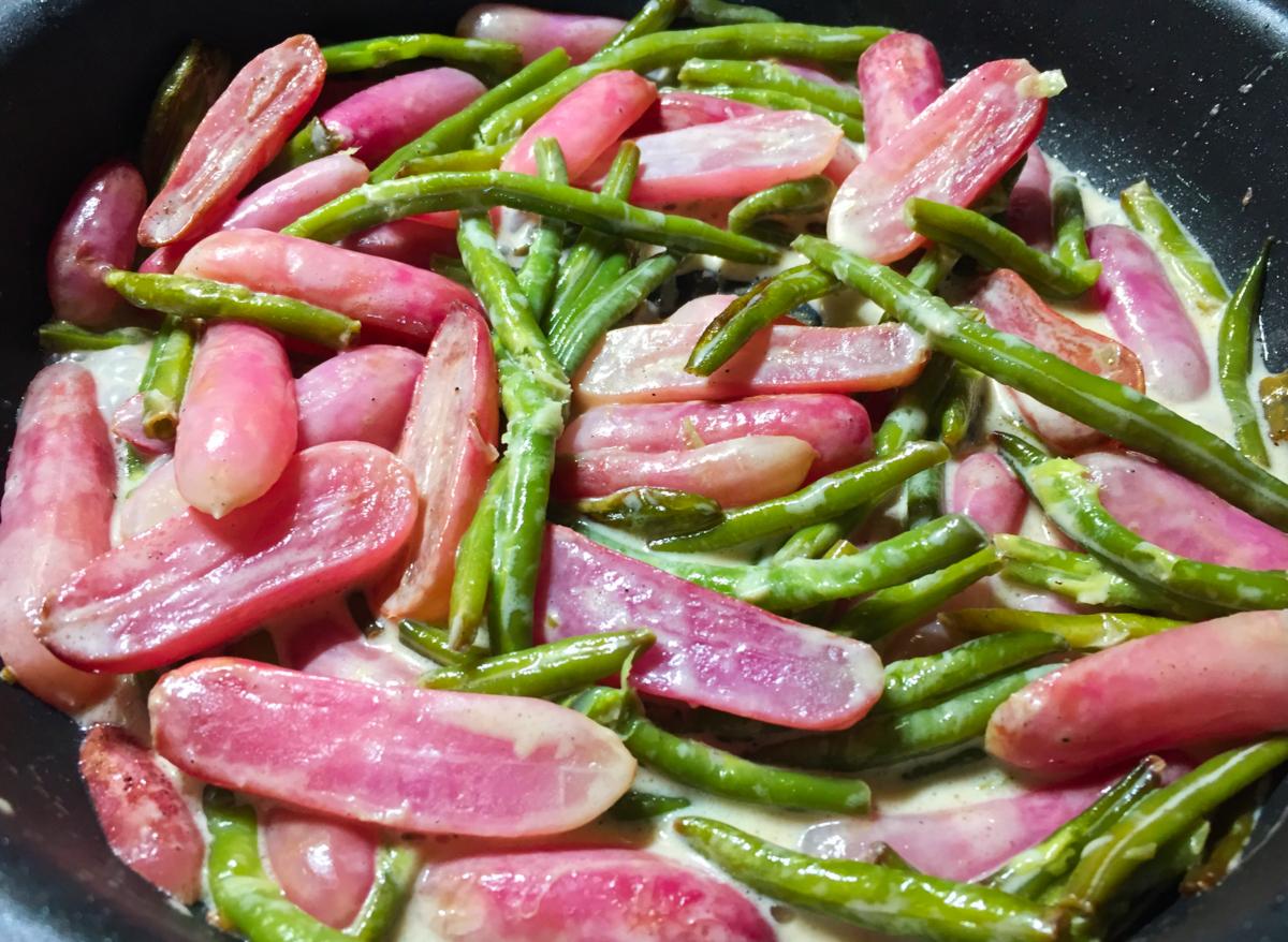 IMG 3756 - Poêlée de radis et haricots verts