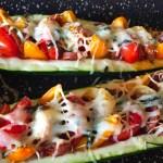 IMG 3853 - Courgettes au chorizo façon pizza