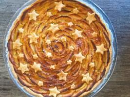 IMG 4274 - Tarte aux pommes étoilée