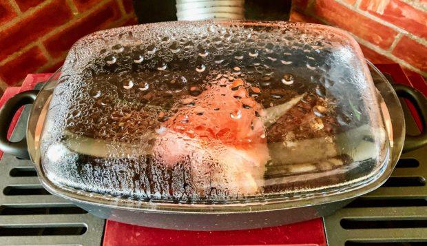 IMG 5806 620x357 - Jarret de porc en cocotte et sauce au vin