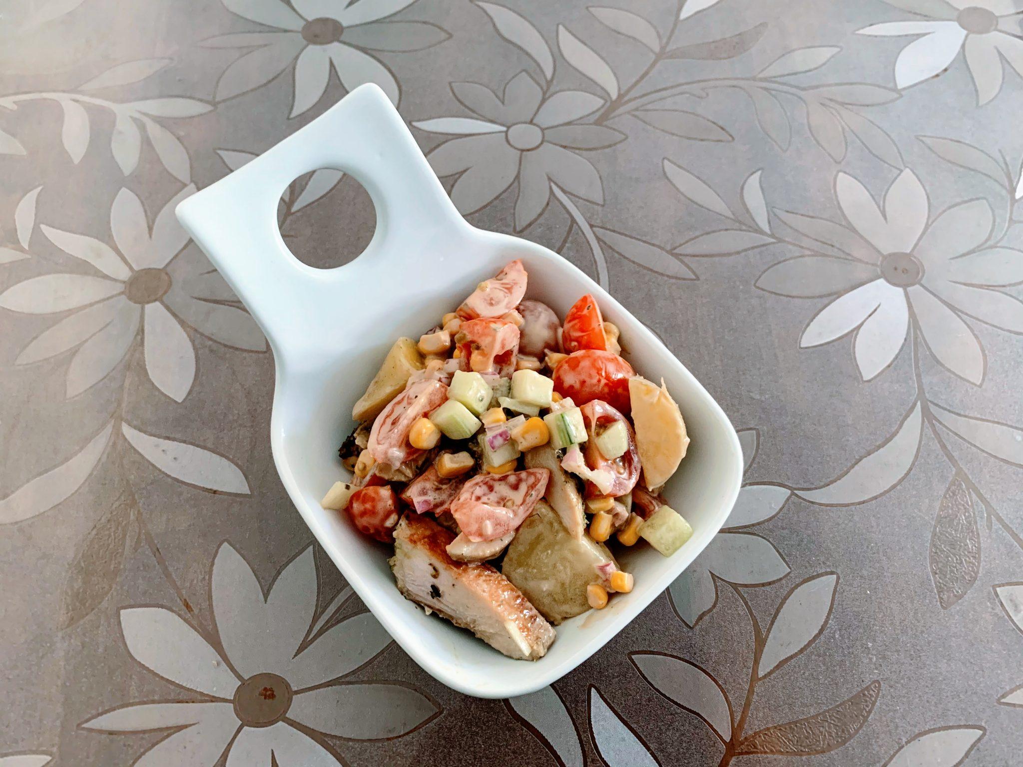 IMG 1975 scaled - Salade de grenailles & poulet aux épices méditerranéennes