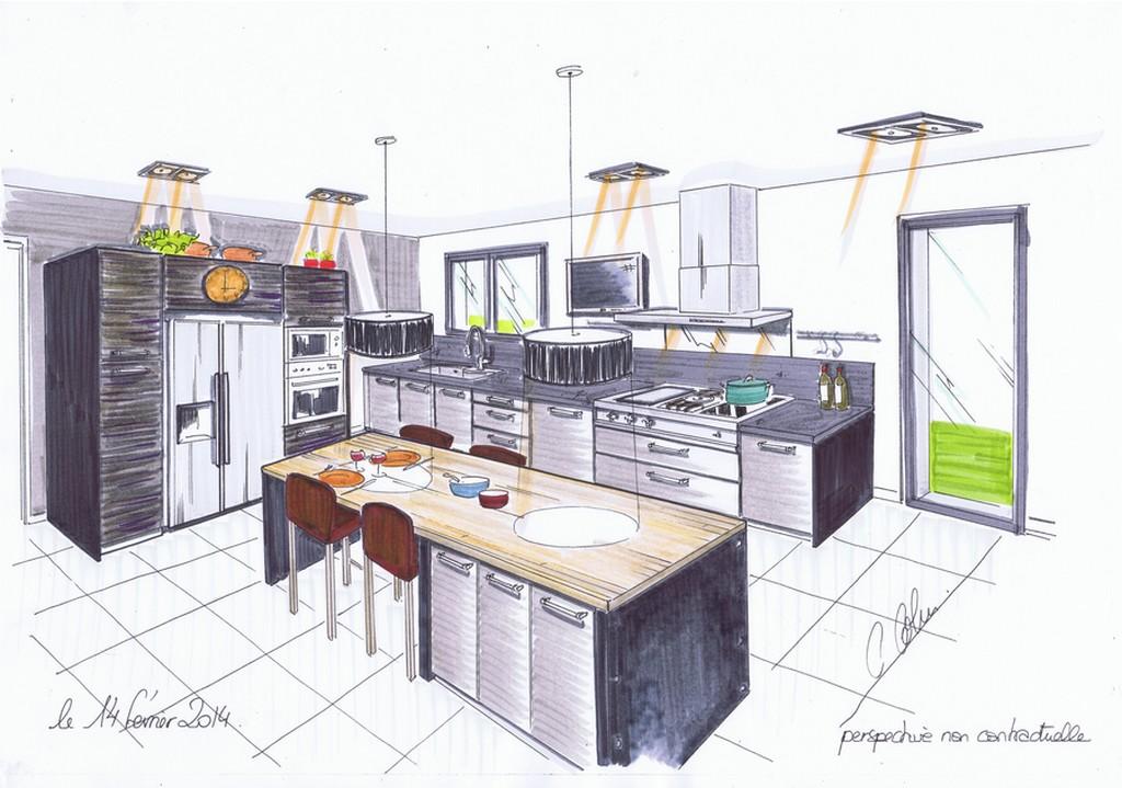 plan de cuisine cuisines 2c creations