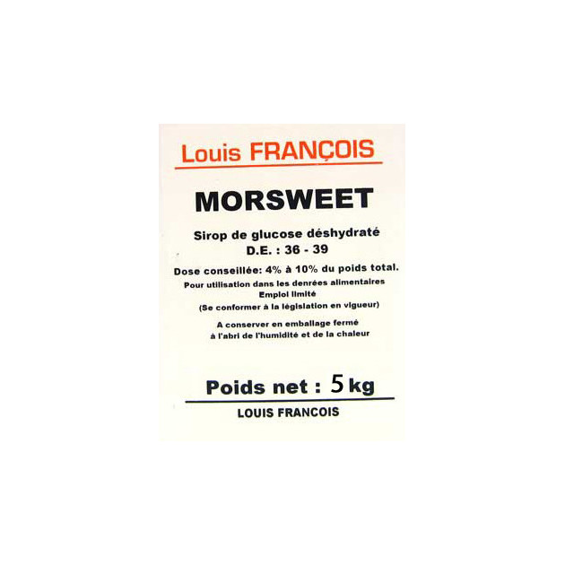 sirop de glucose deshydrate 5 kg morsweet