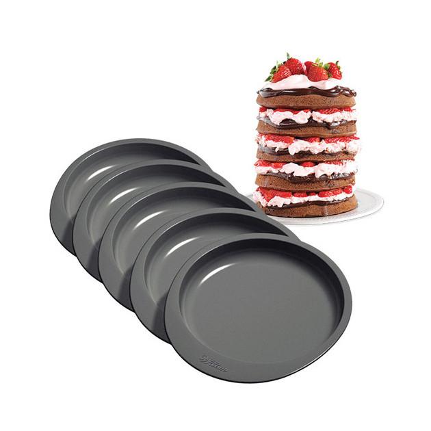 moule gateau a etages rainbow cake wilton x5