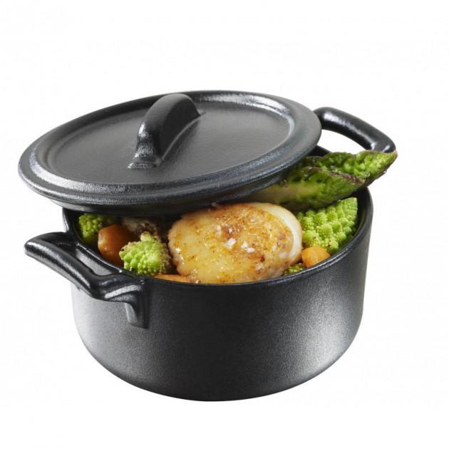 cocotte ronde noire 20cl belle cuisine revol