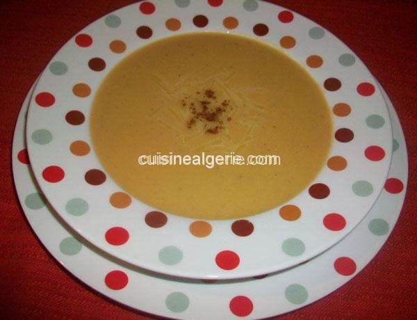 Soupe de potiron au lait