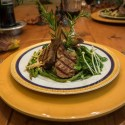 Thai marinated grilled lamb rack