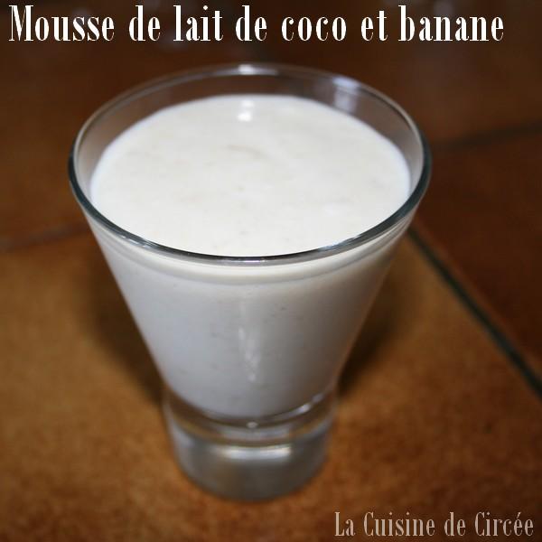 Mousse au lait de noix de coco et banane