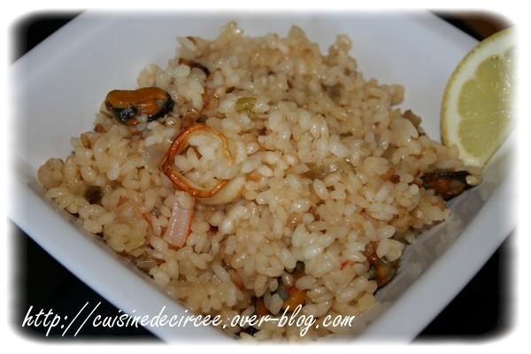 Risotto aux fruits de mer et crevettes (recette Actifry)