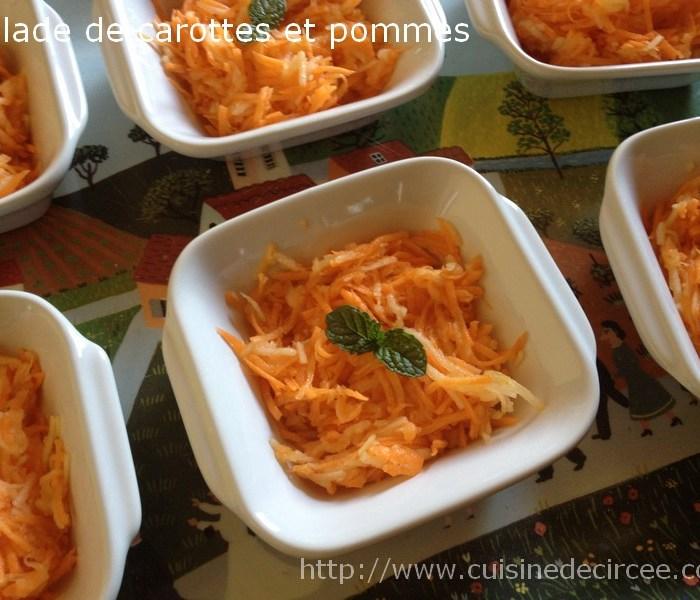 Salade de carottes et pomme à la vinaigrette au miel et au citron