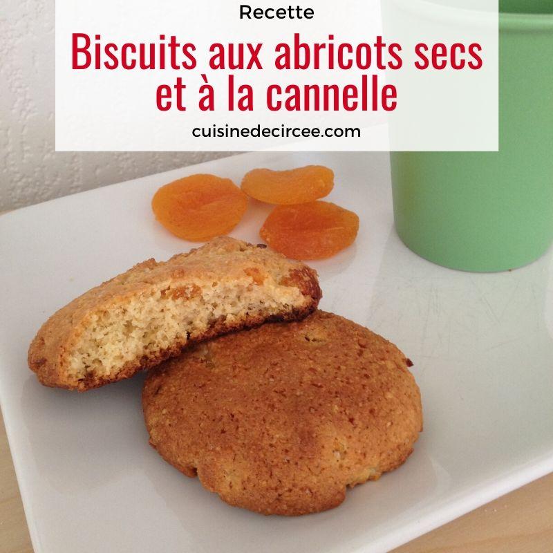 Biscuits aux abricots secs et cannelle