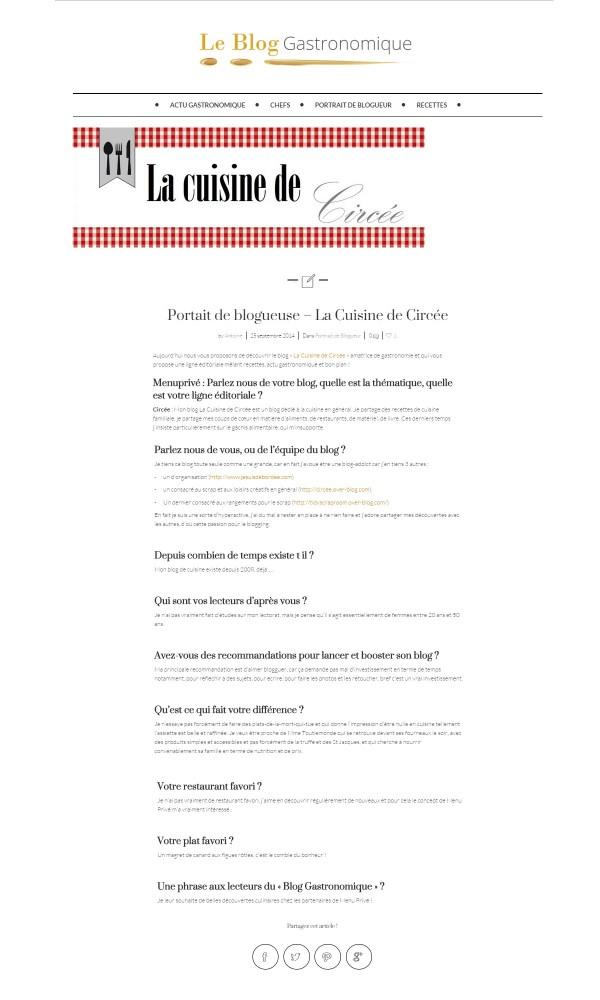 Interview menu privé 01