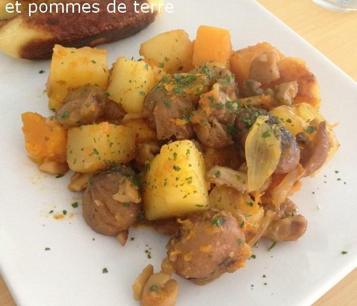 Poêlée de Butternut, marrons et pomme de terre