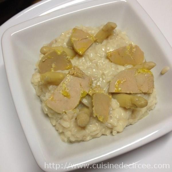 Risotto aux asperges et au foie gras