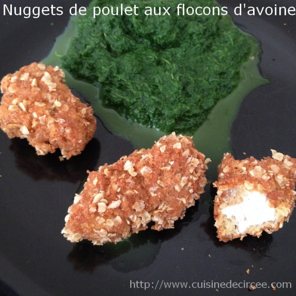 nuggets de poulet aux flocons d'avoine 06