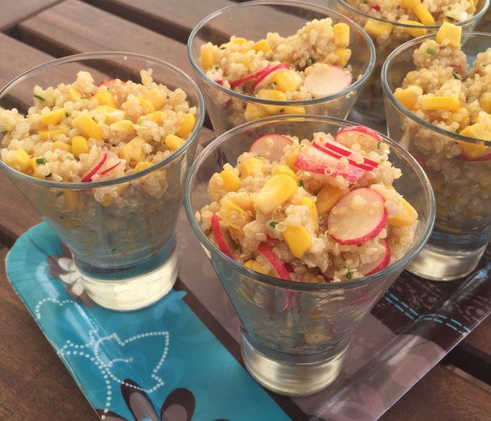Salade quinoa radis maïs