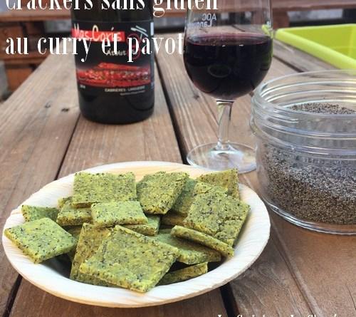 Crackers sans gluten curry et pavot