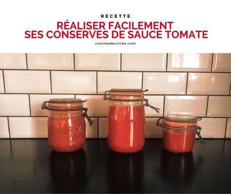 conserves de sauce tomate