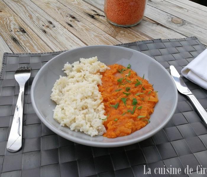 Dal de lentilles corail au Cooking Chef Gourmet