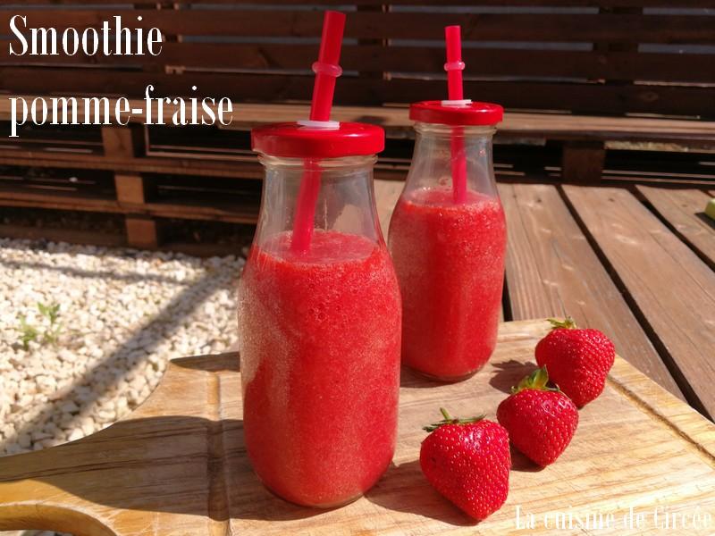 Smoothie pomme fraises