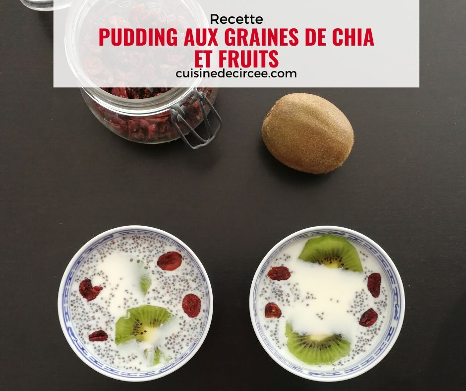Pudding de chia et fruits