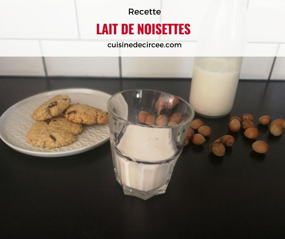 lait de noisettes