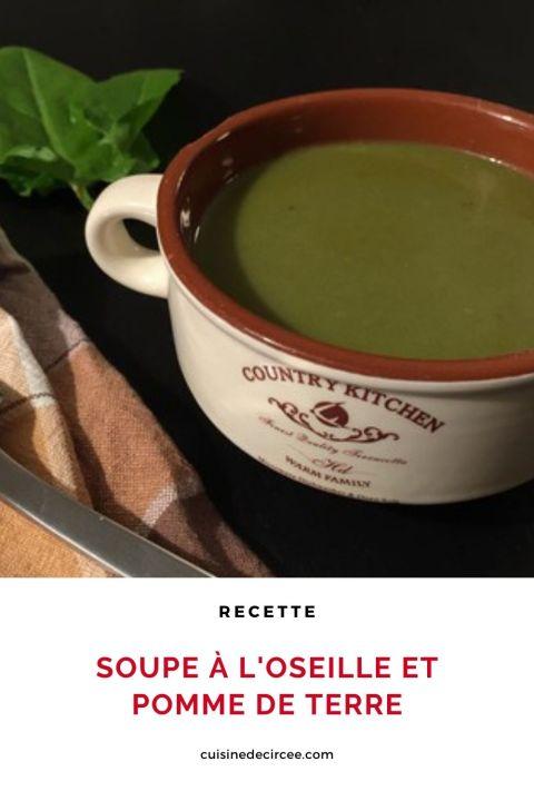 Soupe à l'oseille et pomme de terre