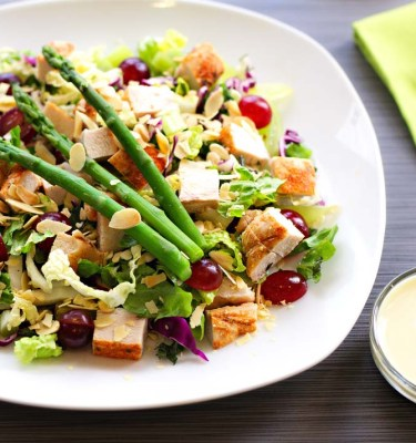 Cuisine for Healing Chicken Salad on Greens with Asparagus