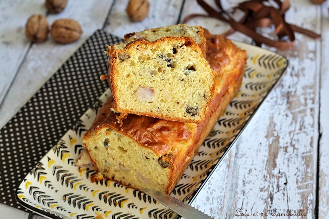 cake lardons,cake lardons fromage,cake roquefort,cake roquefort lardons