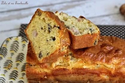 Cake au roquefort & lardons (6)