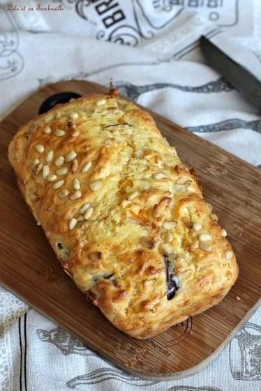 Cake aux poivrons grillés & jambon (2)