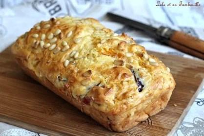 Cake aux poivrons grillés & jambon (3)