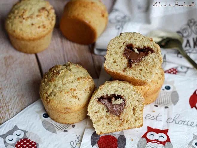 pâte à tartiner,muffins recette,muffins moelleux