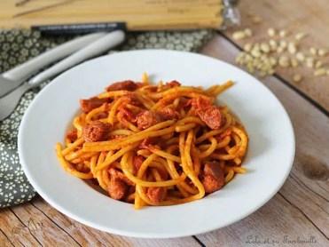 Spaghettis aux poivrons & gésiers (5)