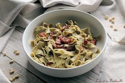 Pâtes aux tomates séchées & coppa (3)