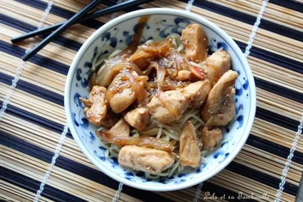 Émincés de poulet aux épices & au miel