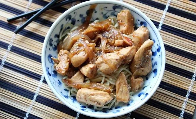 Émincés de poulet au miel & cannelle