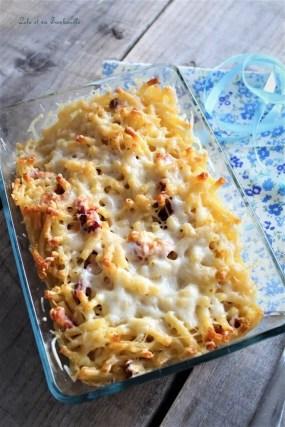Gratin de pâtes aux lardons (3)