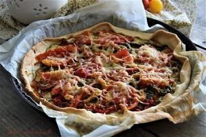 Tarte aux légumes grillés,tarte aux légumes grillés et chèvre,tarte fine aux légumes grillés,tarte fine aux légumes grillés et au chèvre