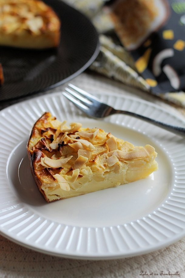 Clafoutis pommes & poires au fromage blanc