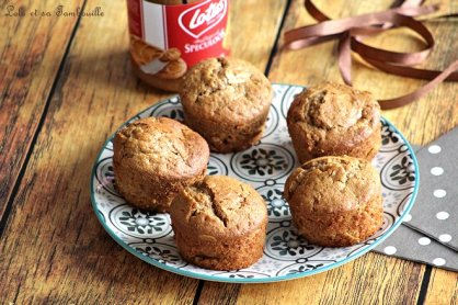Muffins pâte de spéculoos & pommes (2)