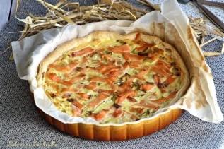 Tarte fondante au saumon & poireaux (2)