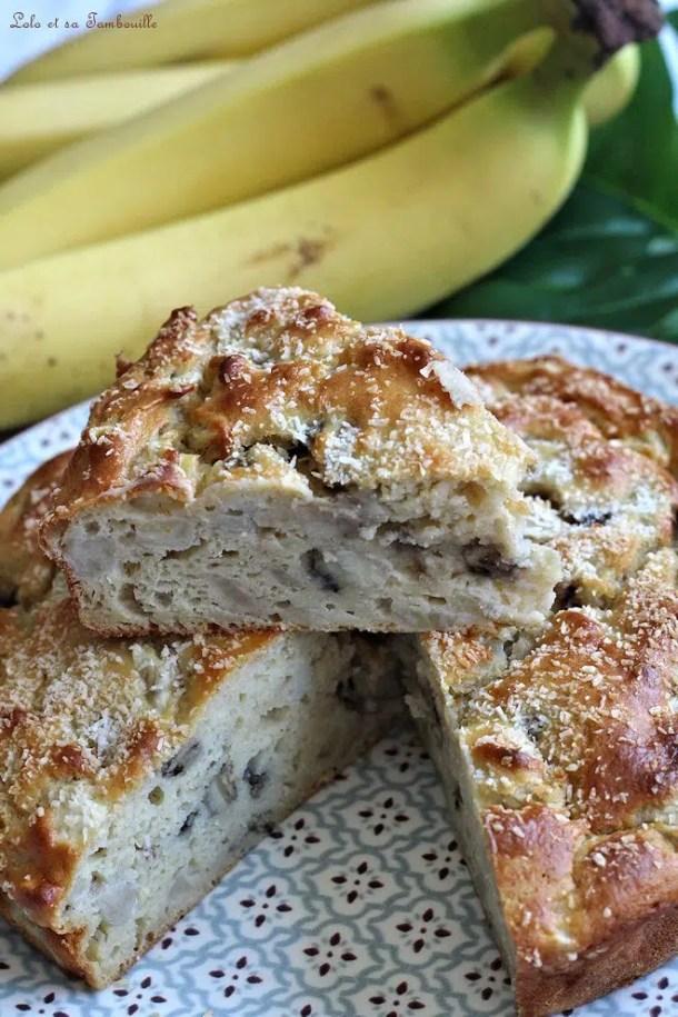 Gâteau moelleux bananes & ricotta