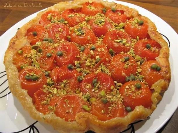 Tatin de tomates aux pistaches