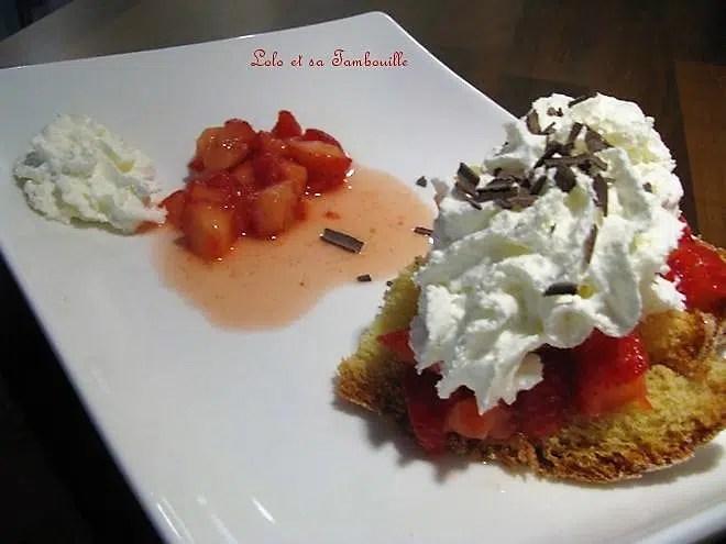 Pandoro aux fraises