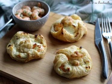 Feuilletés aux crevettes & fromage frais (2)