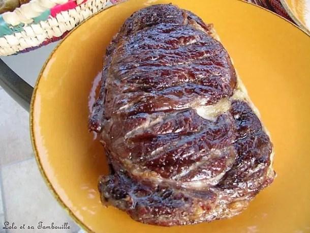 Côte de boeuf grillée & maïs doux grillé sauce New Orléans